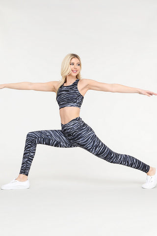 Striking Strokes of Color Active Sports Bra and Leggings Set