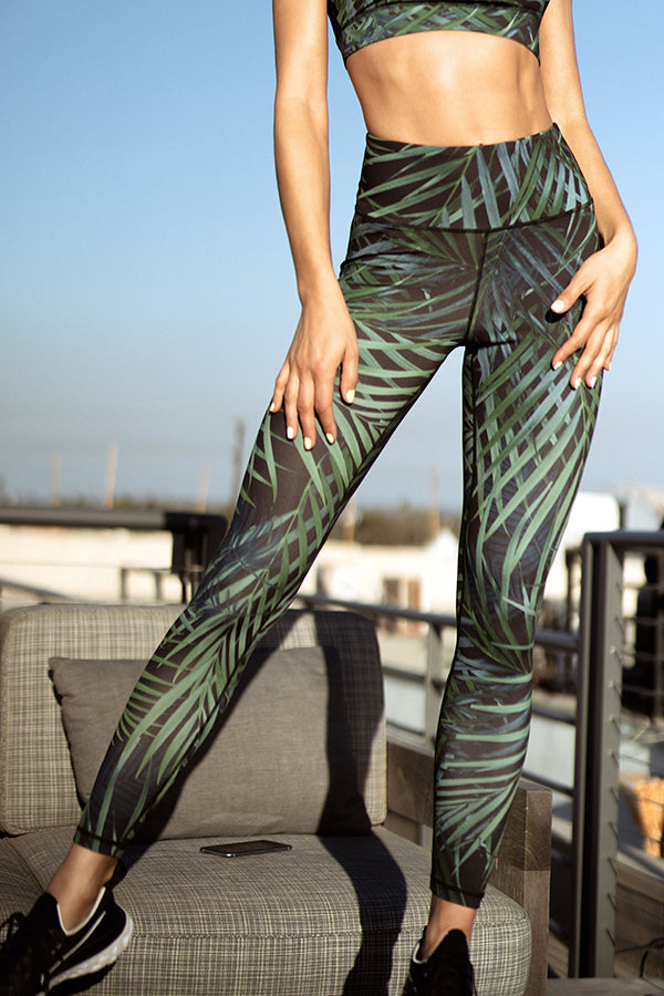 Lush Palm Leaf Active Leggings
