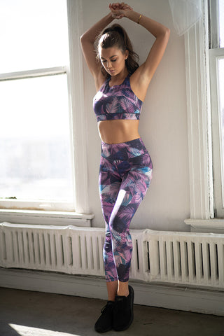 Move with You Stone Wash Sports Bra And Leggings Set