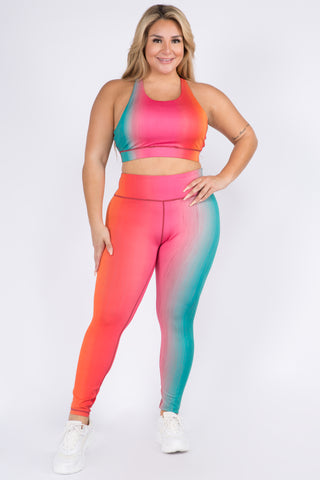Plus Size Colorful Mary J Marijuana Leaf Print Leggings
