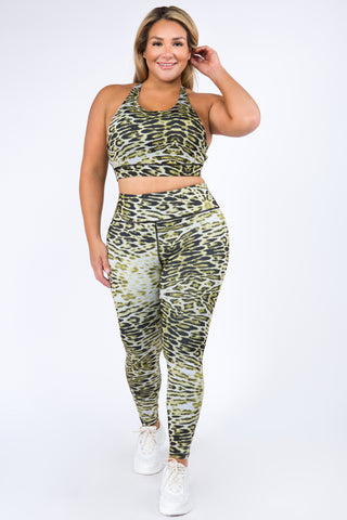 Plus Size Active High Rise Phone Pocket Matte Leggings