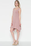 dusty rose tank dress
