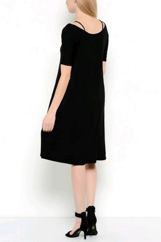 In the City Lattice Scoopneck Dress
