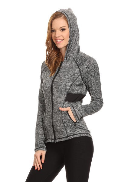 Active Zip Up Jacket With Hoodie