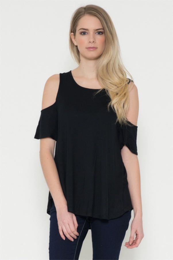 Cool & Casual Cold Shoulder Knit Top