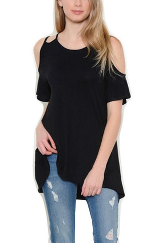 Better Be Mine Double Strap Cold Shoulder Top