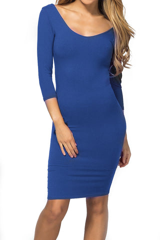 Curve Appeal Low Back Midi Bodycon Dress