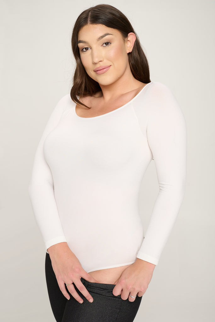 black long sleeve bodysuit plus size