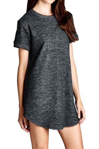 Varsity V-neck Sweatshirt Dress