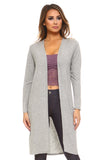 Contemporary Cool Open-Front Knit Cardigan