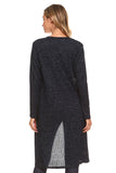 Shimmer and Sparkle Open-Front Ribbed Lurex Cardigan