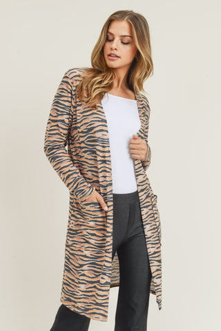 Wild for It Leopard Print Cardigan