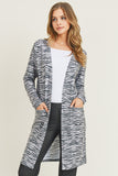 Striped Animal Print Cardigan