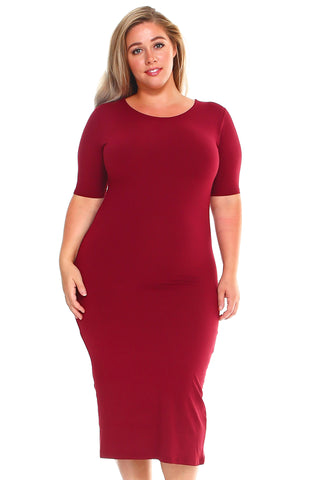 Plus Size If You Got it Flaunt It Bodycon Dress
