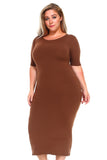 mocha brown plus size dress