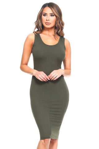 Single Stripe Bodycon Midi Dress