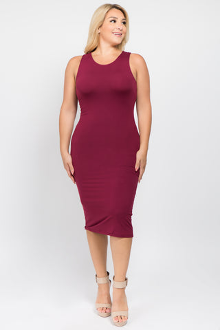Wild Spots Leopard Bodycon Midi Dress- Regular & Plus Sizes