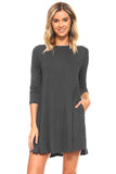 Endless Possibilities ¾-Sleeve Swing Dress