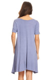Crossing Paths Short Sleeve Trapeze Dress