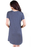 Summer's End Striped T-Shirt Dress