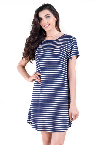 Short Sleeve Crew Neck Midi Bodycon Dress