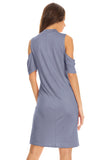Set the Scene Cold Shoulder Shift Dress
