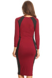 Set The Two-Tone Midi Bodycon Dress