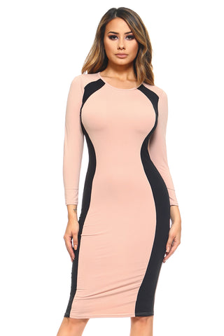 Set The Tone Midi Bodycon Dress