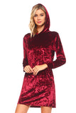 Cool Girl Crushed Velvet Hoodie Dress