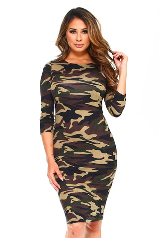 If You Got it Flaunt It Bodycon Dress-Plus Size