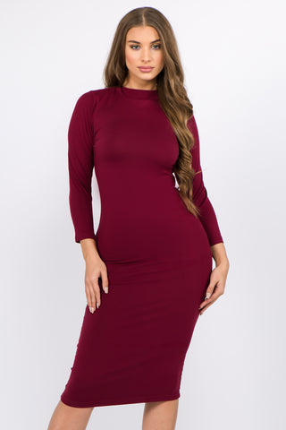 Crew Neck Bodycon Tank Midi Dress