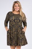 Plus Size Filigree A-Line Dress