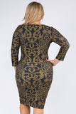 Plus Size Filigree Bodycon Dress