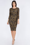 Filigree Midi Bodycon Dress