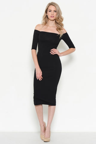 Slay All Day Ruched Side Bodycon Dress