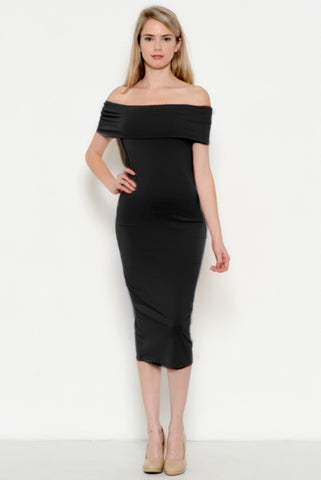 Night Out Off The Shoulder Midi Dress