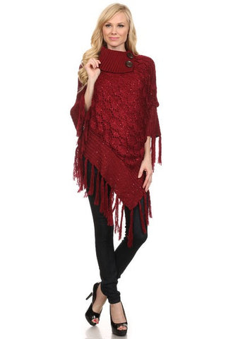 Sequence Fashion Poncho