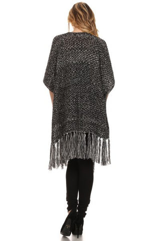Long Fashion Poncho