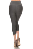 Performance Moto Style Capri Legging