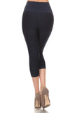 black moto capri leggings