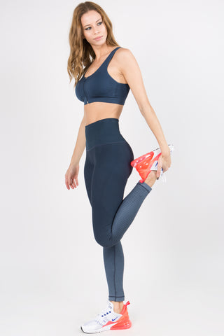 Athletic Space Dye Ombre Capri Leggings