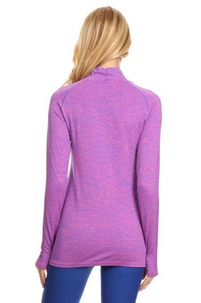 Mock Neck Half Zip Active Pullover Top