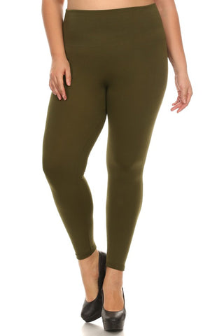 Plus Size Wendy Seamless Capri Leggings