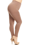 nude plus size women's leggings