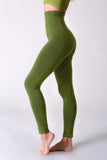 green compression body shaper leggings