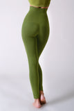 green control top seamless legging