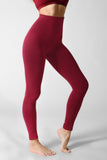burgundy ultra compression leggings