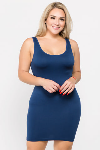 Plus Size One of the Boys Slip Dress