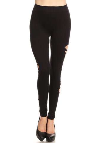 Stylish Destruction Knit Leggings