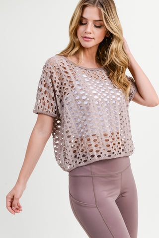 Net To Mention Crop Top